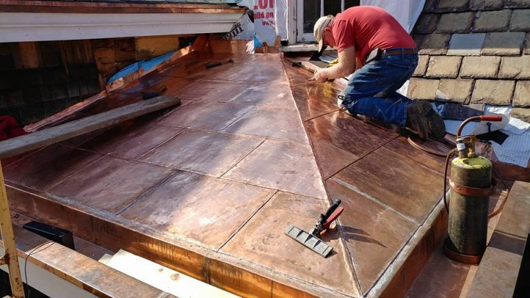 new hand made flat seam copper roof ohio