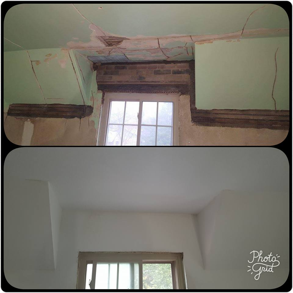repair cracked plaster walls