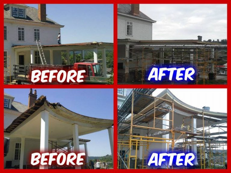 CA Smith before & after roof restoration project