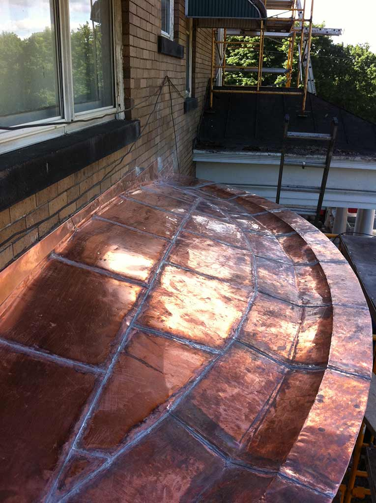 Flatlock Seam Copper Roofing - Wynn Home