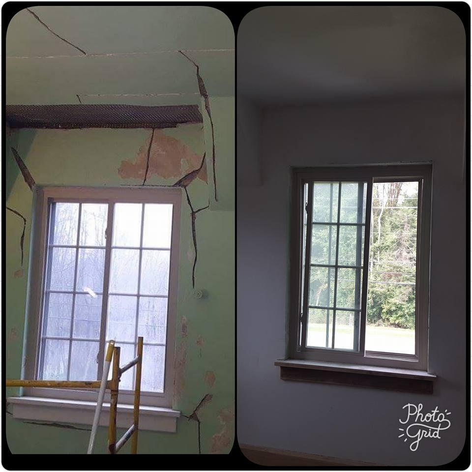 restoring plaster in old walls